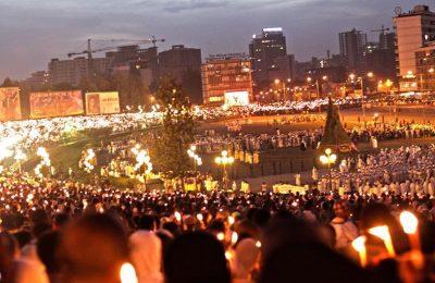 King Dawit Tours in Ethiopia Meskel Festival celebration.